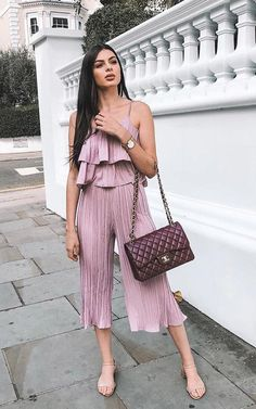 Pink Orla Pleated Co-ord. PLEATS on fleek girl! Our ' ORLA ' co - ord is hella cute! Featuring pleated material, culotte style trousers and floaty… Co Ord, Style Me, Trousers, Jumpsuit, Cute, Pink, Outfits, Dresses, Fashion