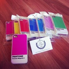 pantone phone cases from The Paper Aeroplane Club