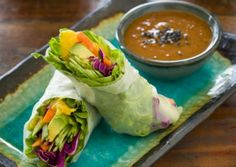Happy Friday!! Looking for a delicious summer recipe to make for your friends & family this week?! Whip up this sweet & satisfying Mango Thai Wrap Surprise. Today we're featuring one of your NEW recipes from your Tone It Up Summer Sizzle... #dinner #healthyricepaperwrap #healthythaimangowraprecipe