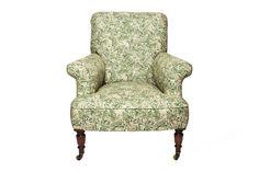 Antique Armchair#1.0      Der antike Sessel wurde liebevoll restauriert und mit hochwertigen Liberty Stoffen bezogen. Die Rollen der Füße sind im Originalzustand aus vergangenen Zeiten. Wingback Chair, Armchair, Accent Chairs, Furniture, Home Decor, Restore, Sofa Chair, Upholstered Chairs, Single Sofa