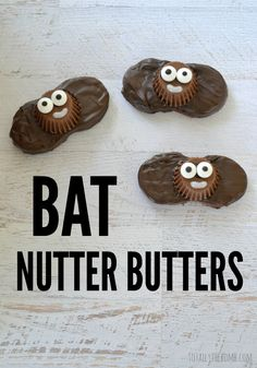 """""""Bat Nutter Butters"""" -- Slightly different and fun take on bats; compare here: https://www.pinterest.com/pin/175218241725266613/"""