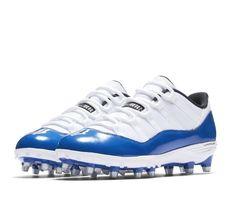 sports shoes 1e8ca 33c97 Jordan XI Retro Low TD Mens Football Cleats 11 White Game Royal  Jordan   FootballShoes