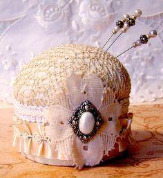 vintage hat pin cushion