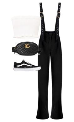 """""""Untitled #1741"""" by deamntr ❤ liked on Polyvore featuring Vans and Gucci"""