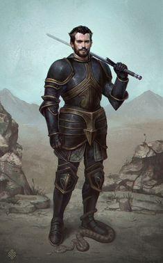 The Knight, Gerry Arthur on ArtStation at https://www.artstation.com/artwork/EaD90