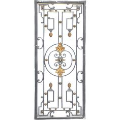 Cast iron window grille period 19th century 1