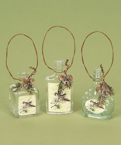 Bird Bottle Ornament - Set of Six #zulily #Christmas #Holiday