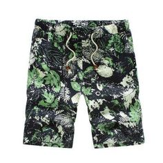 SHAN BAO brand Hawaiian style men and women casual beach shorts 2017 summer new loose waist thin flowers shorts 12 colors