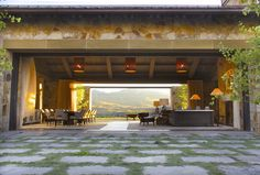 Living Designs by Backen, Gillam & Kroeger Architects Indoor-Outdoor Living Designs by Backen, Gillam & Kroeger Architects Photos Indoor Outdoor Living, Outdoor Rooms, Outdoor Kitchens, Outdoor Areas, Inspiration Design, Home Living, Living Spaces, The Ranch, Napa Valley