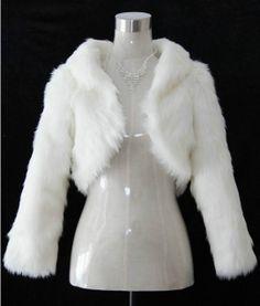 Ivory/black Faux Fur Bridal Wrap/Bridal by loveBaby2015 on Etsy, $36.00