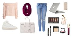 Just Another December's Day by fromhometonyc on Polyvore featuring polyvore fashion style H&M NIKE Yves Saint Laurent Speck Merona Diane Von Furstenberg Forever 21 NARS Cosmetics David Jones Dr.Hauschka MAC Cosmetics clothing