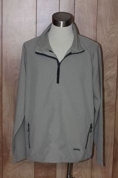 MEN'S CABELA'S 1/2 ZIP WINDBREAKER JACKET-SIZE: LARGE TALL #CABELAS #Windbreaker
