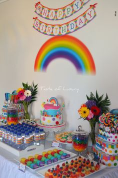 Rainbow Party Table | Flickr - Photo Sharing!