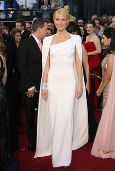 Gwyneth Paltrow - amazing dress w/cape!  Oscars 2012
