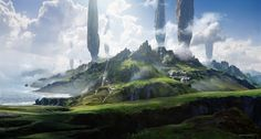 ArtStation - Jonathan Berube - Personal Fantasy Landscape, Berube ✌