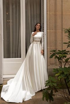 Boho Wedding Dress With Sleeves, Muslim Wedding Dresses, Bohemian Wedding Dresses, Long Sleeve Wedding, Princess Wedding Dresses, Dream Wedding Dresses, Bridal Dresses, Elegant Wedding Dress, Wedding Gowns
