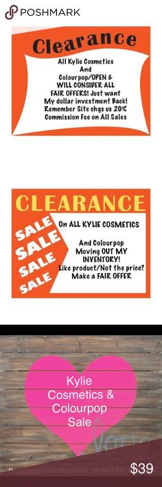 ♥️ KYLIE COSMETICS/& COLOURPOP/CLEARING INVENTORY ♥️⬇️SALE ON ALL KYLIE COSMETICS PRODUCTS/And COLOURPOP/CLEARING INVENTORY! Please use Site's OFFER TAB/MAKE FAIR OFFERS PLEASE! Remember Site takes 20% of selling price! Just want to make back my investment! All products are New Never Used/SOME U CAN'T GET FROM THEIR SITES ANYMORE! Will work 2 get U what U want! Via Offer Tab ONLY/Funds don't pull until we agree! Ship in Kylie Cosmetics shipping box/can provide proof where ordered from/Please…