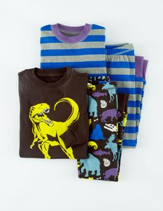 Dino pajamas! Yes, raid the boys department for these. From mini Boden, sizes 2-12.