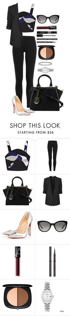 """""""Untitled #1599"""" by fabianarveloc on Polyvore featuring TIBI, Polo Ralph Lauren, Fendi, Helmut Lang, Christian Louboutin, Christian Dior, Burberry, NARS Cosmetics, Marc Jacobs and Rolex"""