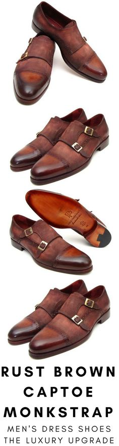 Mens dress shoe in rust antique brown suede double monkstrap by Paul Parkman. Luxury mens handmade dress shoes, formal shoes, business shoes for any occasion. These shoes come in multiple sizes. They are hand-painted with care by expert shoemakers. #mensdressshoes #dressshoes #shoes #mensfashion #socks #laces #handmade #bestshoes #luxuryshoes #businessshoes #formalshoes