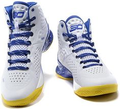 Under Armour Curry One Playoff Basketball Shoes Blue White1