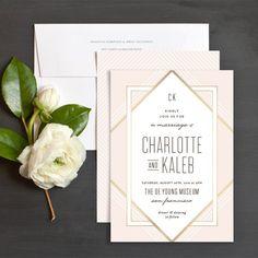 Framed Elegance Wedding Invitations by Hooray Creative   Elli