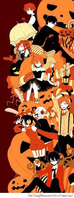 Kano, Shintaro, Ene, Konoha, Mekaku City Actors Halloween!!! :D