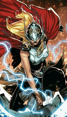 Jane Foster as Thor by Russell Dauterman Marvel Dc Comics, Marvel Avengers, Heros Comics, Marvel Comic Universe, Fun Comics, Marvel Art, Marvel Heroes, Marvel Cinematic Universe, Lady Thor