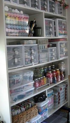 How to Organize your Craft Room - this post has lots of creative storage ideas!  Via A Scrapmom's Musings