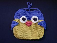 Owl Bib- free #crochet baby bib pattern