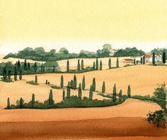 Tuscany watercolor