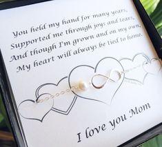 Mütter-Karte mit Silber Infinity Armband, Perlen Armband, Mutter der Braut, Mutter des Bräutigams, mothers Day Geschenk, Geschenke für die Mutter