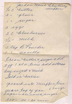 Jordan Marsh Blueberry Muffins Old New England Recipes
