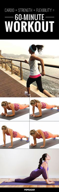 60-Minute Workout That Has It All! Cardio, Strength, and Flexibility