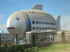 National Fisheries Development Board Building, Hyderabad, India (from Incredible Animal-Shaped Buildings from Around the World) Unusual Buildings, Interesting Buildings, Amazing Buildings, Modern Buildings, Hyderabad, Architecture Unique, Crazy Houses, Unusual Homes, Around The Worlds