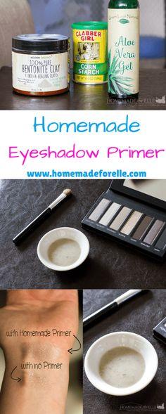 Homemade EyeShadow Primer - Make Up Belleza Diy, Tips Belleza, Eyeshadow Primer, Makeup Eyeshadow, Eye Primer, Eyeshadow Palette, Organic Makeup, Natural Makeup, Natural Beauty