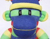 Primary stripe sock monkey