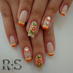 As 20 melhores unhas decoradas com esmalte laranja #unasdecoradas
