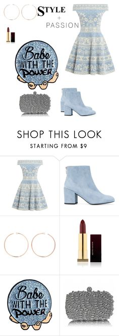 """""""Blue Crush 💦"""" by sushi103 ❤ liked on Polyvore featuring Alexander McQueen, Stuart Weitzman, Anita Ko and Kevyn Aucoin"""