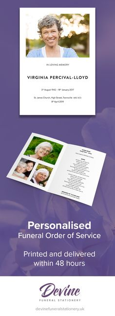 Pink Peony Funeral Service Invitation Memorial Pinterest - funeral invitation cards