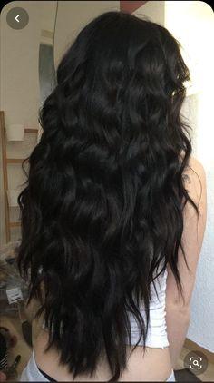 Weave Hairstyles, Straight Hairstyles, Cool Hairstyles, Hairstyles For Black Hair, Black Hair Aesthetic, Coiffure Hair, Long Black Hair, Dying Hair Black, Medium Black Hair