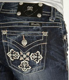 'Miss Me Applique Straight Stretch Jean' #buckle #fashion www.buckle.com