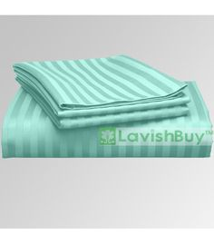1000-TC Egyptian Cotton Aqua Blue Bedding Fitted Sheet