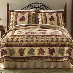 fall quilt patterns | Leaf Quilt / Autumn Leaves Quilt -- Orvis