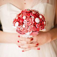 Polka Dot Button Bouquet