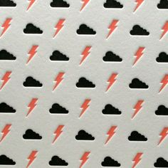 Bolts & Clouds in Pink/Black by letterpress on Etsy Textiles, Textile Prints, Textile Patterns, Pretty Patterns, Beautiful Patterns, Surface Design, Branding, Pattern Illustration, Graphic Patterns