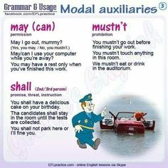 Modal auxiliares
