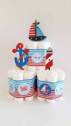 Nautical Diaper Cake Toppers Diaper Cake Decorations Ahoy