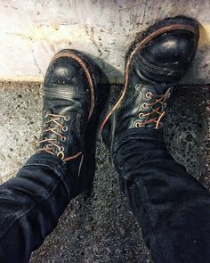 Red Wing Iron Rangers Black Harness Leather Boots 8114