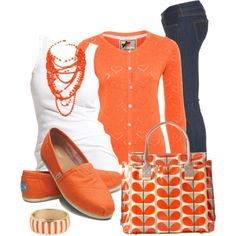 LOLO Moda: #orange #stylish #outfit #women,  http://lolomoda.com/fabulous-womens-wear-for-every-day/